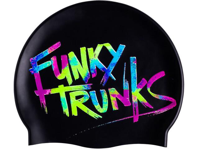 Funky Trunks Silicone - Bonnet de bain Homme - noir